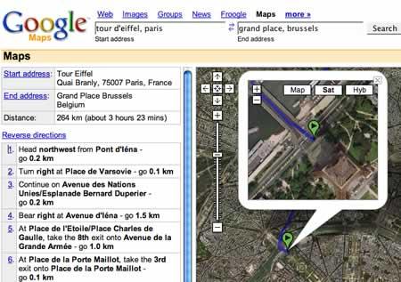 Ah ça alors! Google Maps, Earth get European driving ... Google Earth Maps Driving Directions on googlemaps driving directions, travel maps driving directions, road driving directions, microsoft maps driving directions, bing maps driving directions,