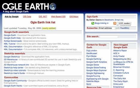 Ogle Earth link list