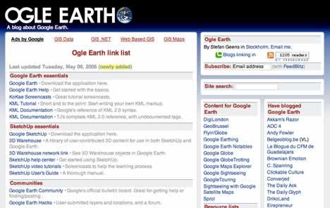 Ogle Earth link list