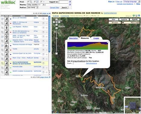 GPS community sites: Wikiloc, EveryTrail | Ogle Earth