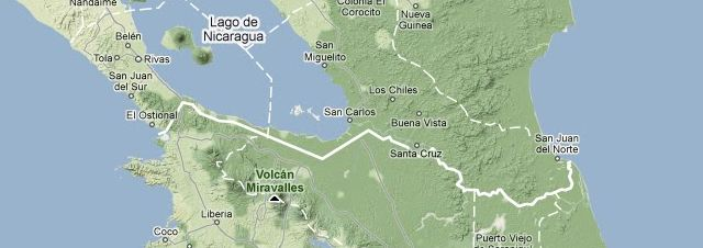 About Costa Rica, Nicaragua, their mutual border, and Google ...