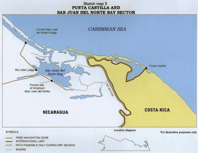 About Costa Rica Nicaragua their mutual border and Google Ogle